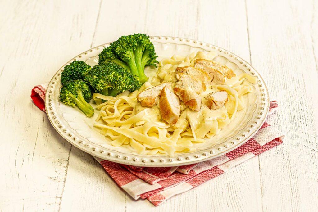 Chicken Alfredo and Broccoli Cutlets